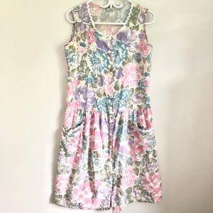 Beautiful vintage pink midi tea dress